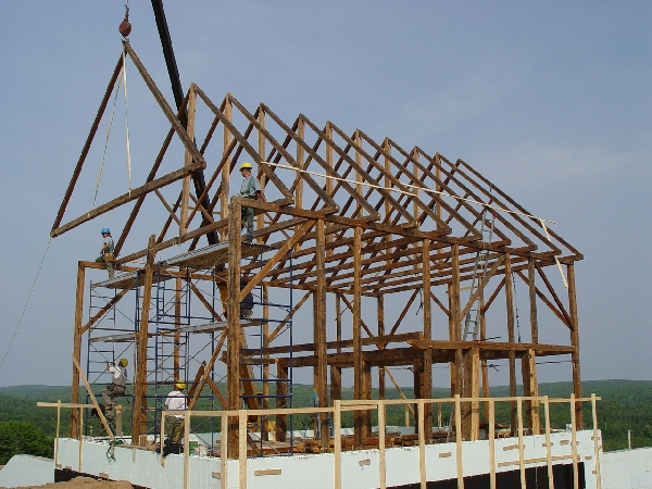 Reclaimed Heritage Timber Frame Church Trusses