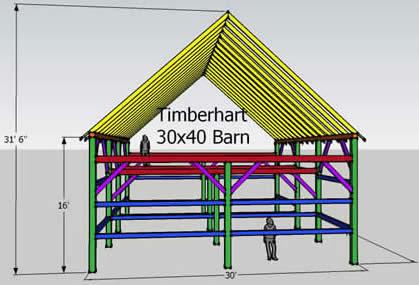 reclaimed barn for sale 30x40