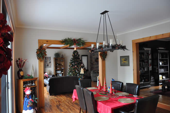 Dining Room Trimbers in a Timber Frame