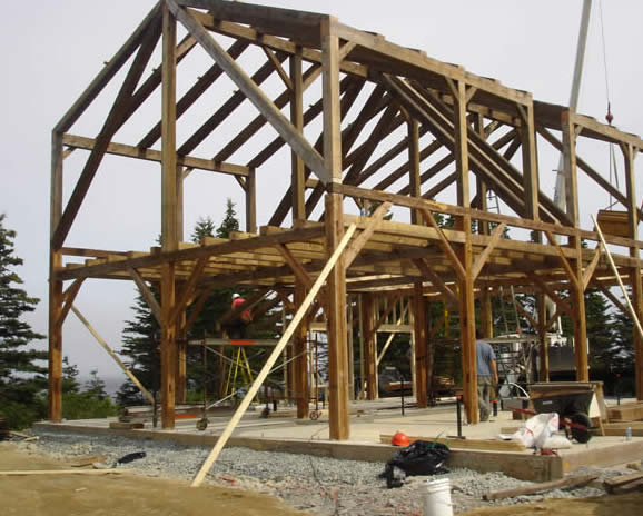 Heritage timber frame barn install