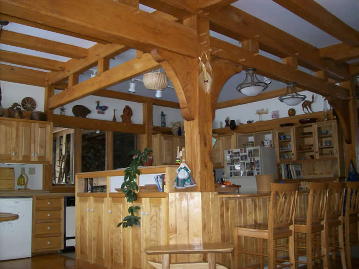 Oak timber Frame show home Kitchen