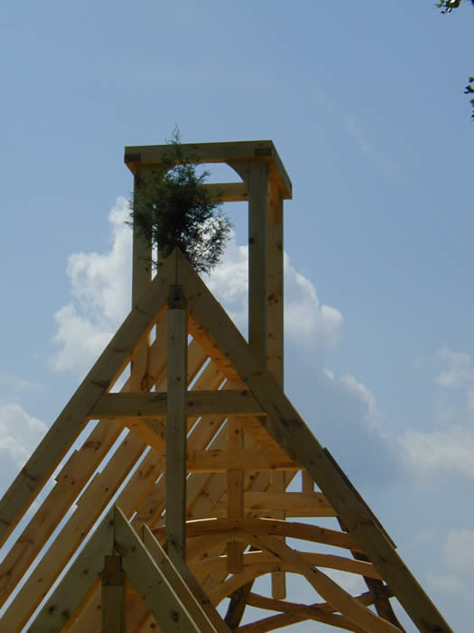 Timber Frame Topping out Ceremony