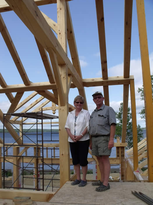 Happy timber frame owners