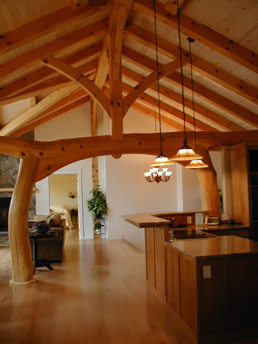 Timber Frame House With A Taiko Beam Built In Memramcook