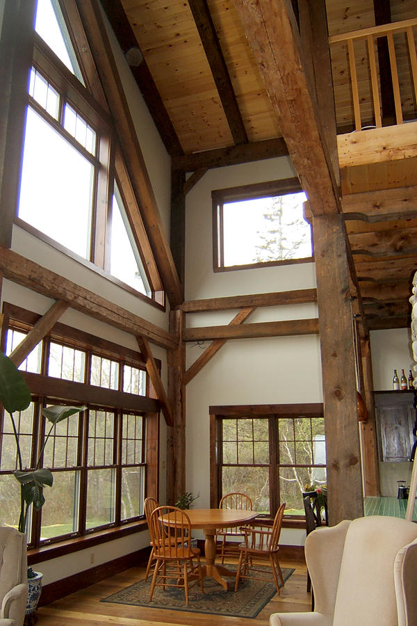Living Off Grid In A Restored Timber Frame By Timberhart