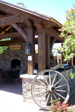 Timber Frame Outdoor Kitchen Post