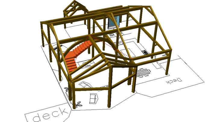 3D Timber Frame Addition