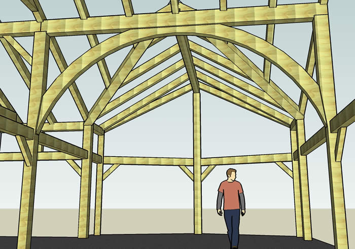 3D Timber Frame of the Arch