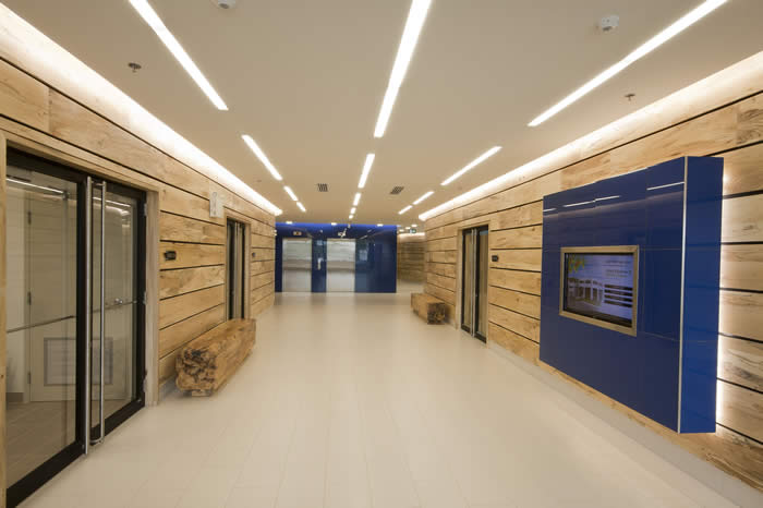 A look at the Elm wall panels hall