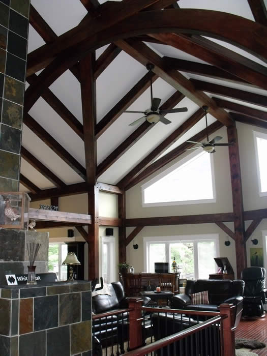 Beautiful Great Room Timber Frame Addition