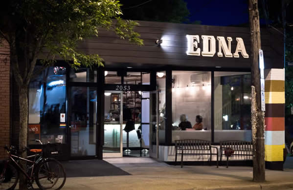 Front View of Edna Restaurant