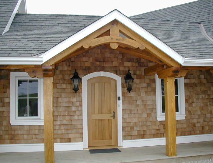 Front entry of Timber Frame