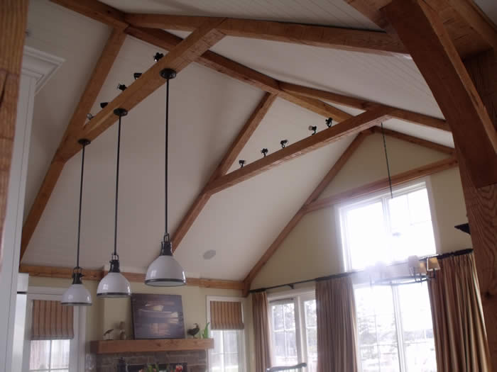 Great Room Trimber Trusses