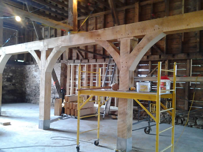 Hemlock Timbers have been added to the Heritage Timber Frame