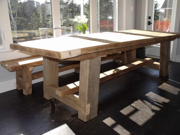 Heritage table and bench