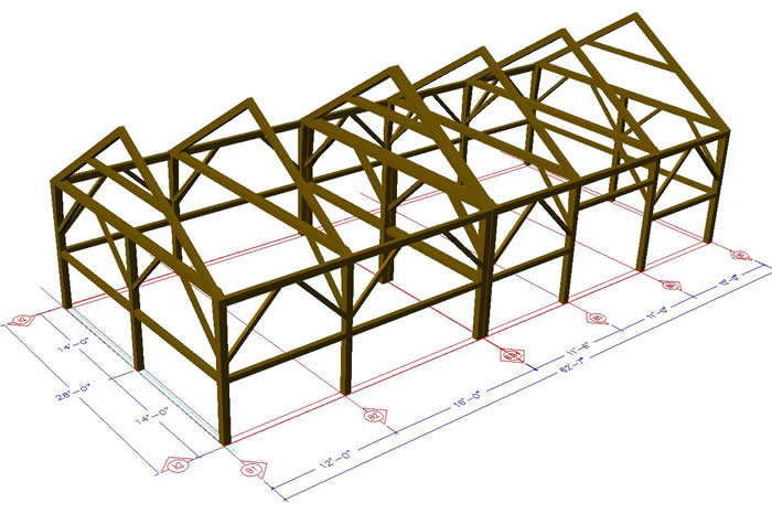 Heritage Timber Frame 3D Model