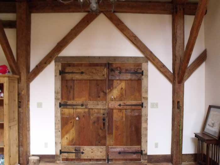 Heritage doors in the timber frame