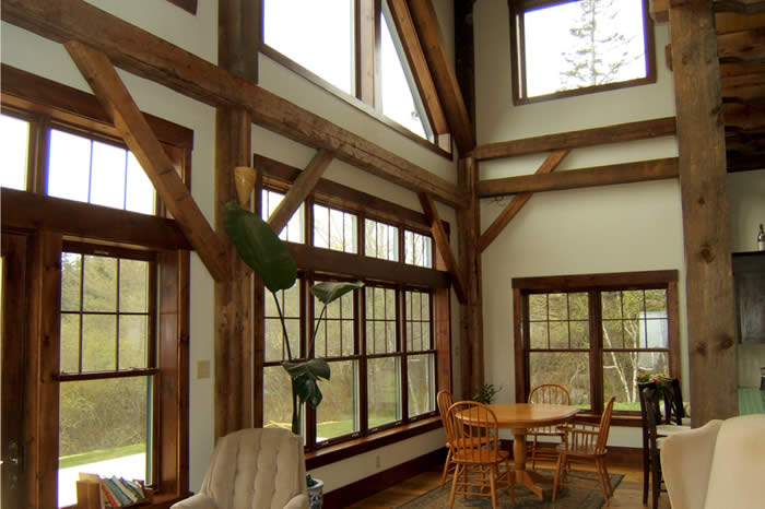 Energy efficient recycled timber frame home