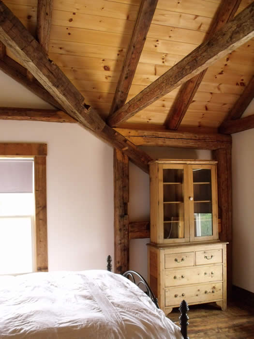 Heritage timber frame bedroom