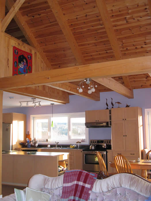 Interior of the Spruce Timber Frame