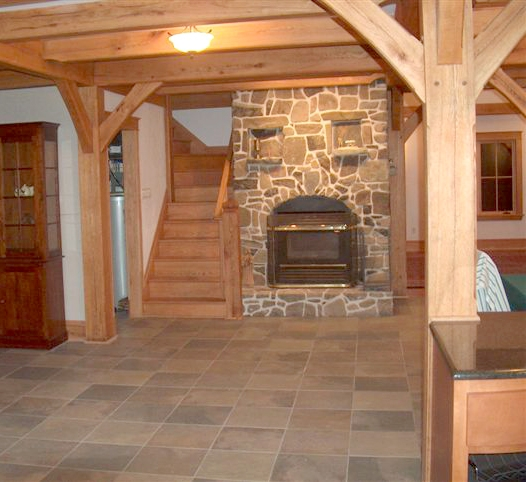 great room of timber frame