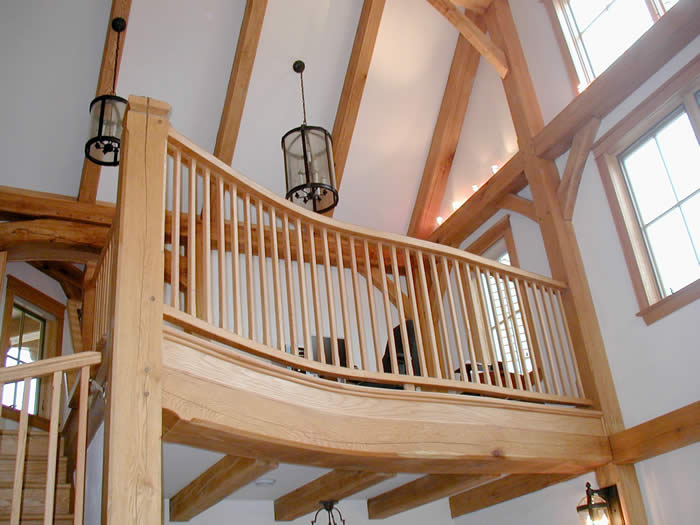 Balcony of timber frame