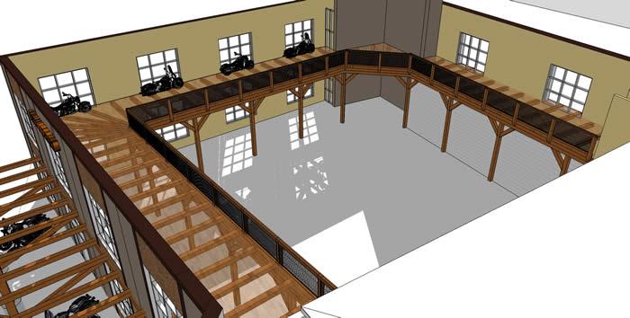Harleydavidsontimberframe for Mezzanine floor construction details