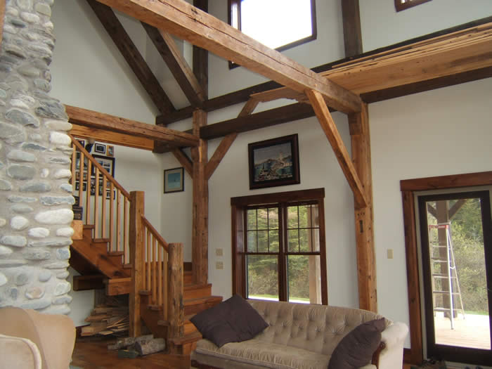 Timber frame great rooms for Timber frame great room