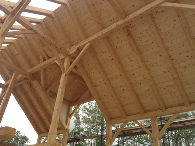 Roof is going on the Spruce Timber Frame