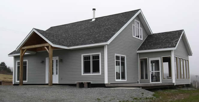 The Exterior of Spruce Timber Frame