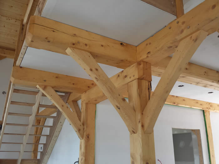 The Install of the Spruce Timber Frame