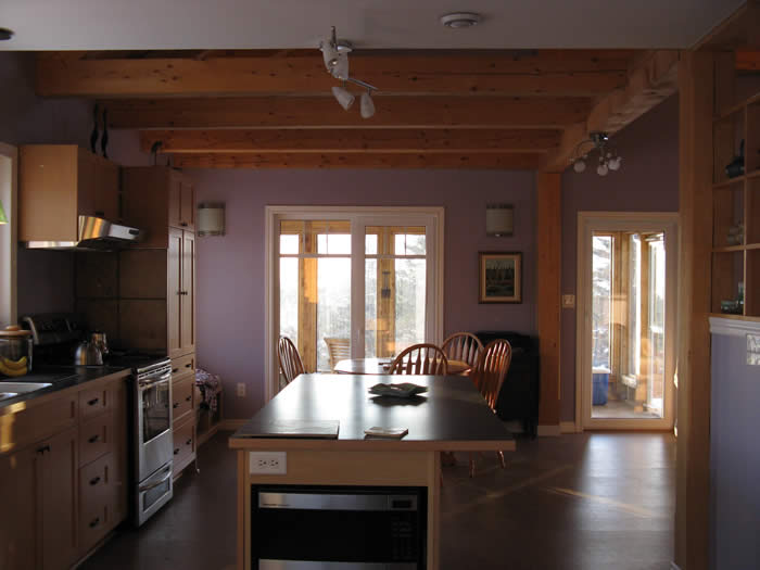 Timber Frame Kitchen in Spruce