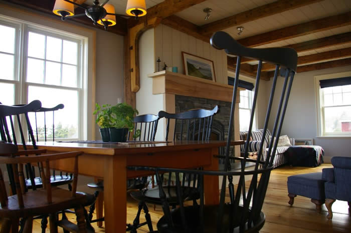 Timber Frame dinning and living room