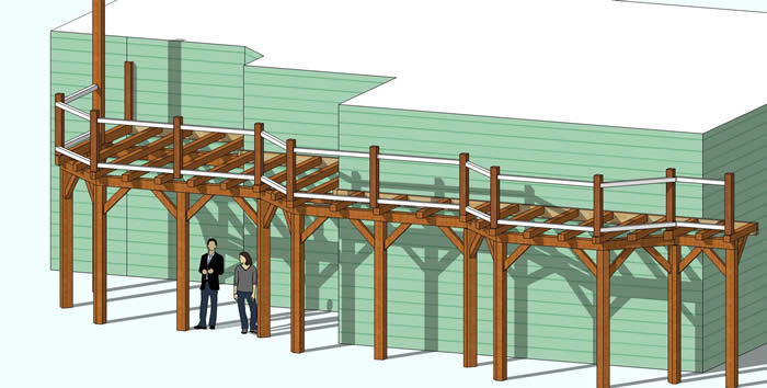 3D Model of Timber Frame Deck