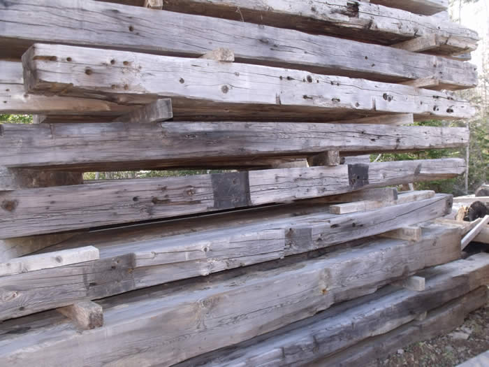 aged yellow pine timbers