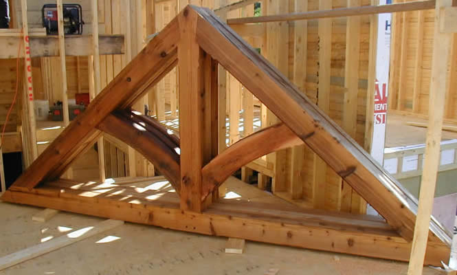 A king postTruss with wind struts