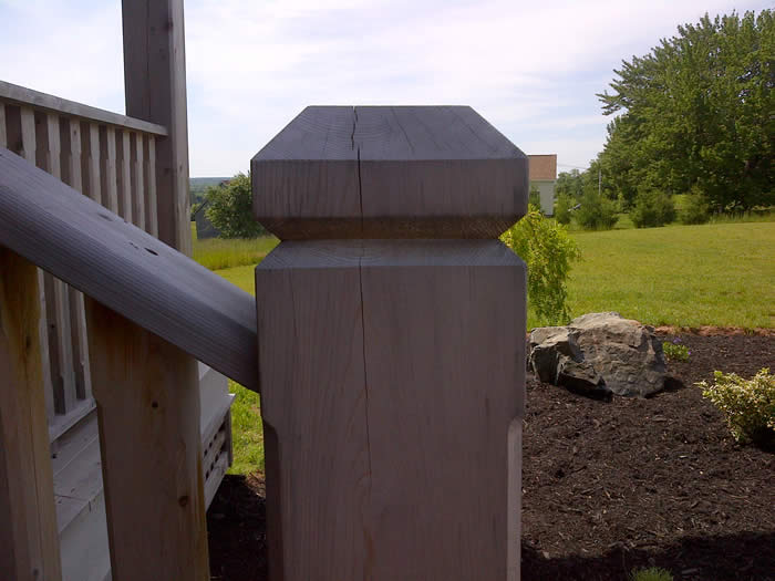 Cedar Newel Post for deck
