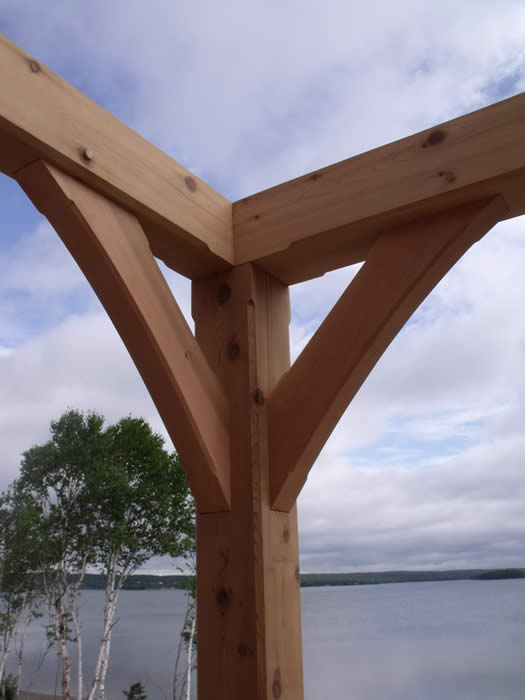 Cedar timber frame porch