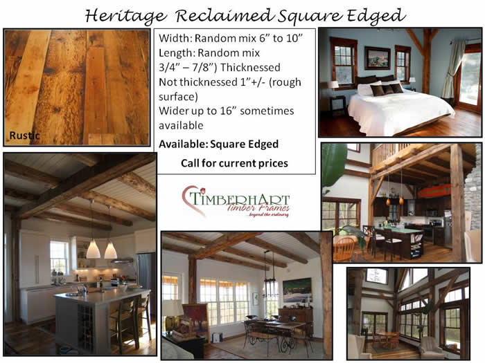 Heritage Reclaimed Square Edged Wide Plank Board Flooring