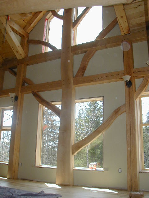 Incorporate a tree that will add Unique characteristicsto your timber frame, free form