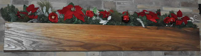 Planed English Elm Mantle
