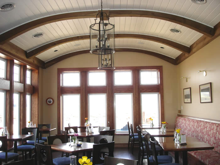 Port Pub Timber Frame Curved Rafters
