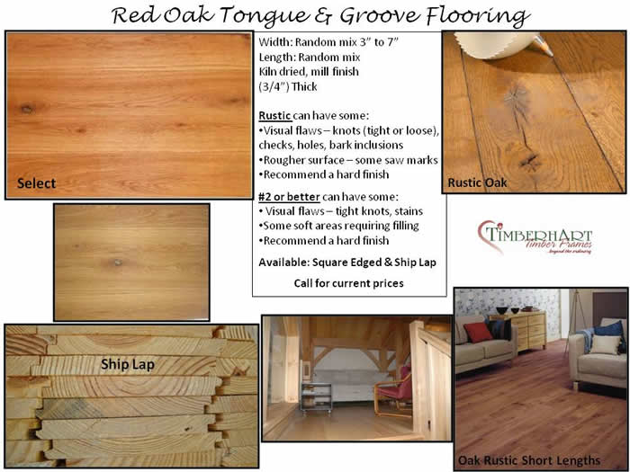 Red Oak Tongue and Groove Flooring