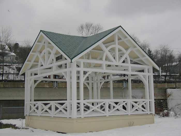Gazebo with roof