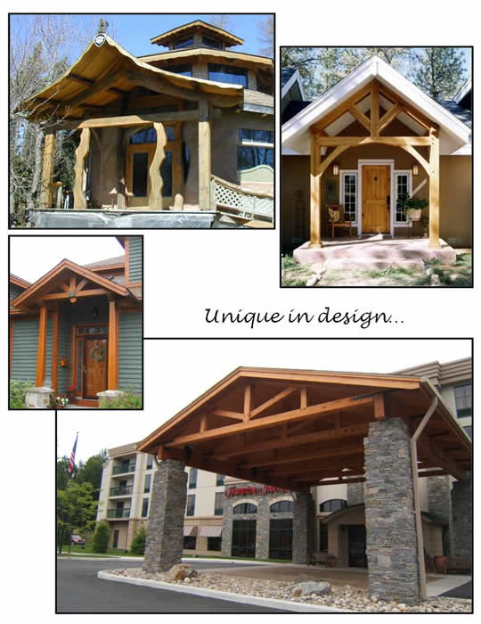 Timber Frame Entry Ways