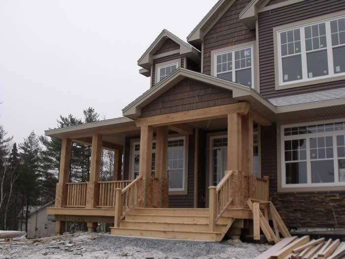 Timber frame entrances joy studio design gallery best for Timber frame porch addition