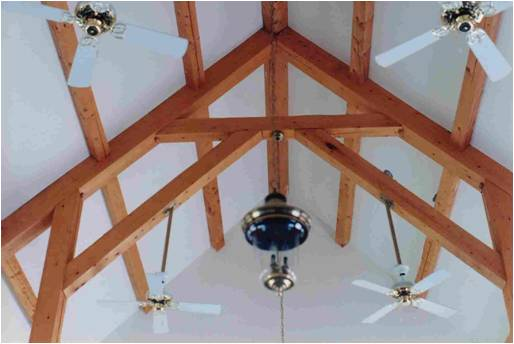 Timber Frame hammer beam truss