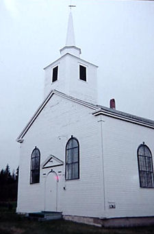 Old timber frame church