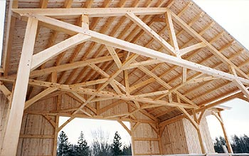 Timber framing - A good clear span to provide room for performances