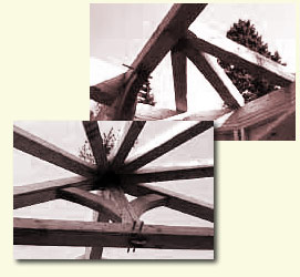 Timber framing design - half circles and arched braces
